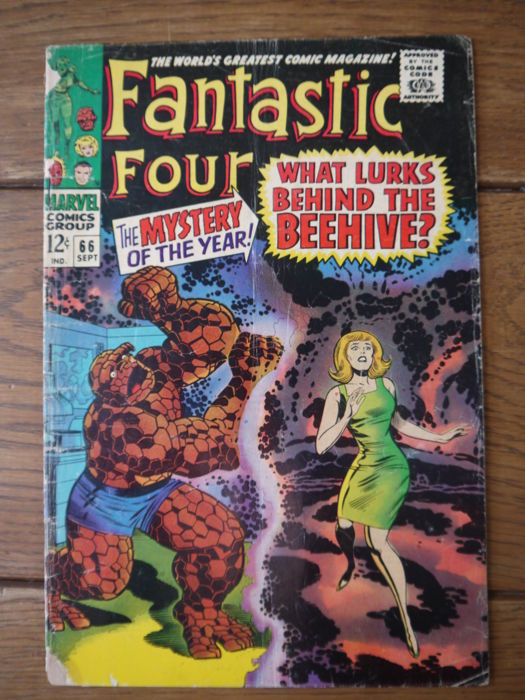 Fantastic Four 66 - What Lurks behind the beehive? - Brossura - Prima Edizione - (1967)