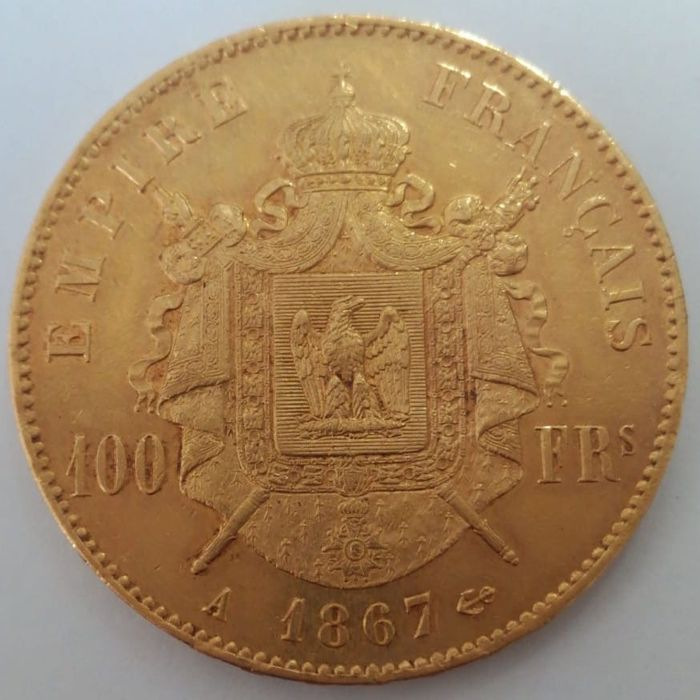 France - 100 Francs 1867-A Napoléon III - or