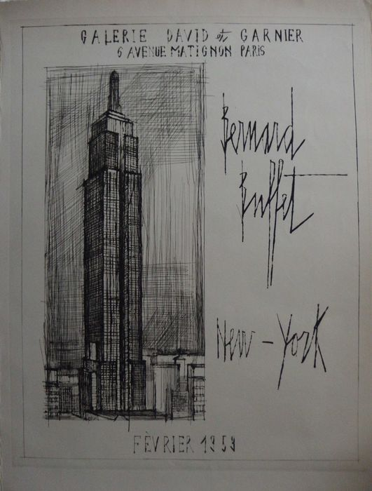Bernard Buffet - New York : L'Empire State Building