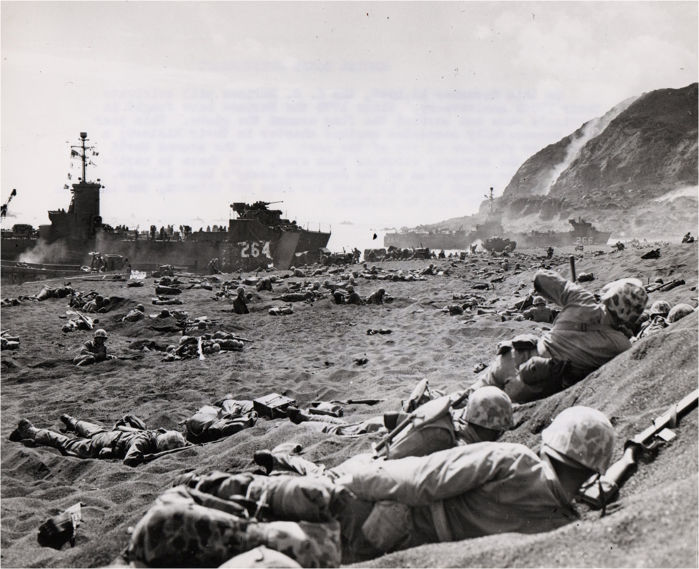 Bob Campbell / Unknown - Invasion of Iwo Jima  - 1945 - WWII