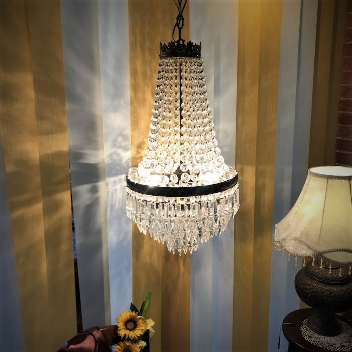 Burnished brass chandelier, in Empire style - 19th century