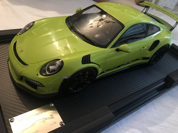 Spark - 1:12 - Porsche 911 GT3 RS  - Lime Green - Limited edition 1 of 100