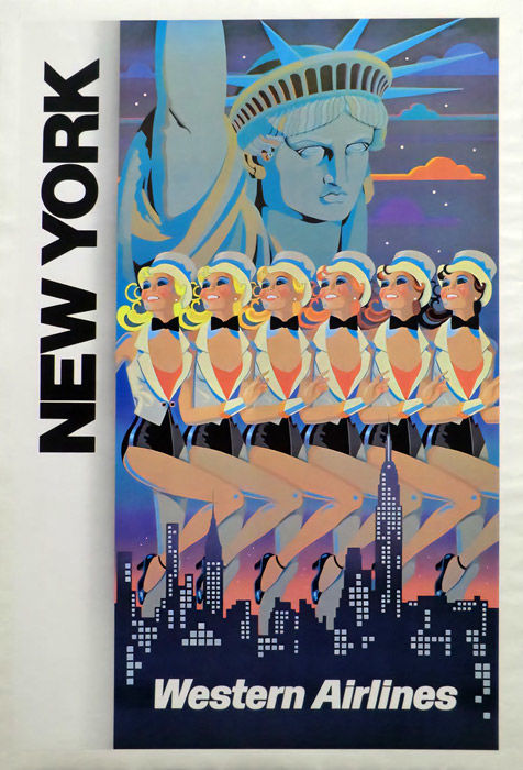 Ellescas - New York Western Airlines - ca. 1970