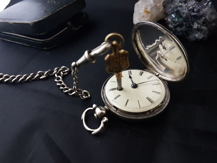 Verge Fuse Pocket Watch - Unisex - Anterior a 1850