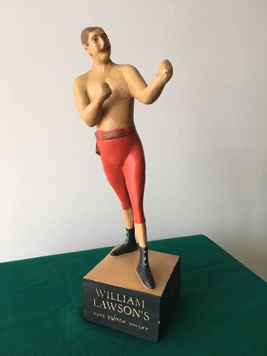 William Lawson's rare scotch whisky advertising statuette