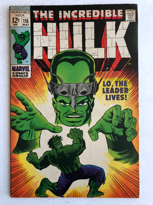 The Incredible Hulk #115 - Hulk vs The Leader - Prima Edizione - (1969)