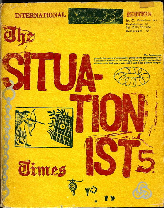 Jacqueline de Jong - The Situationist Times 5  - 1964