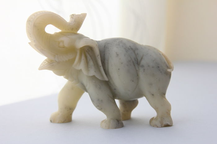 Elephant sculpture made of jade stone