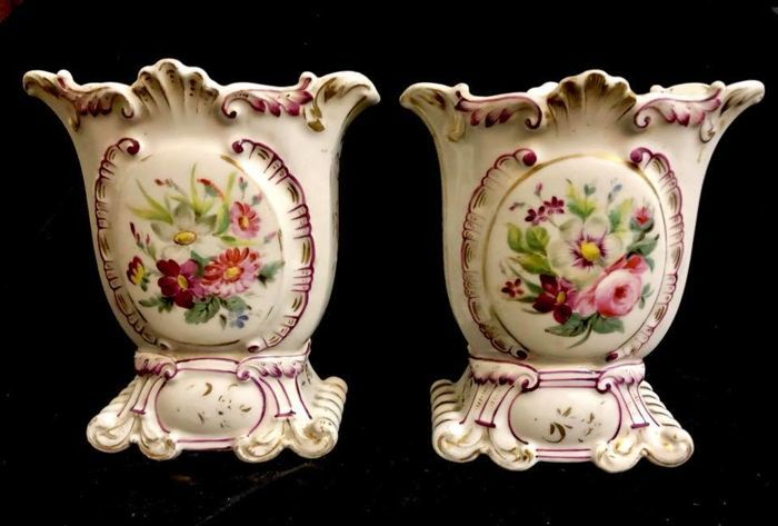 Vieux Paris Pair Of Marriage Vases Late 19th Century Catawiki
