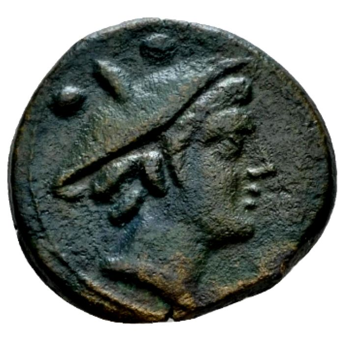 "República Romana - Anonymous ""light series"" sextans, 211-208 B.C. Victory with wreath series. Central Italy. Scarce."