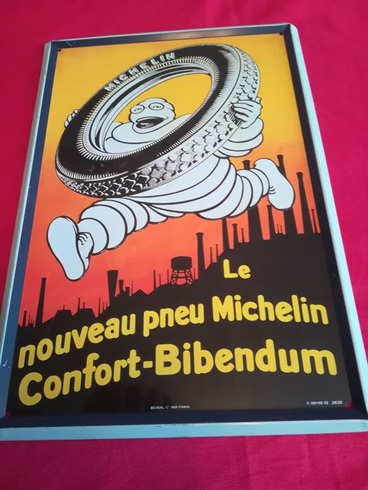 plaque publicitaire michelin bibendum catawiki. Black Bedroom Furniture Sets. Home Design Ideas