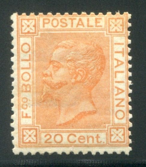 Italy Kingdom 1877 - 20 cent. ocra  - Sassone N. 28
