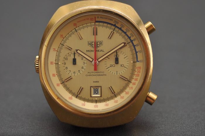 Heuer - Vintage Montreal Gold Calibre 12 Automatic RARE! - 110.505CH - Heren - 1970-1979
