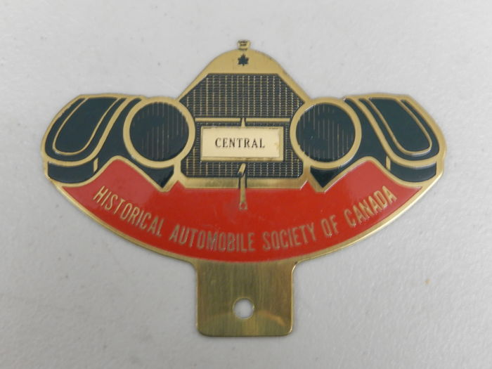 Insigne - Historical Automobile Society Canada Car Badge -  - 1990