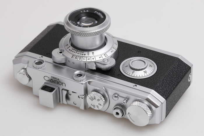 HANSA Canon: camera replica of the first official Canon camera (1936), anniversary edition 75 years Canon, limited edition