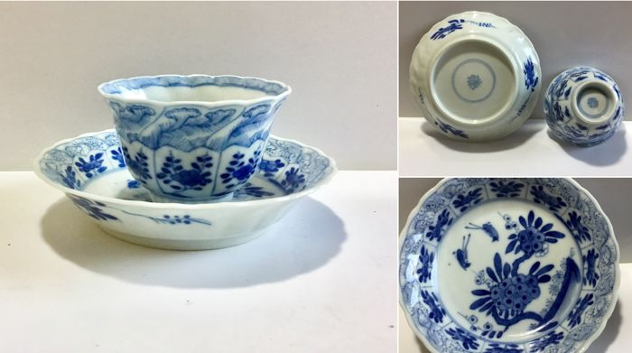 Chinese porcelain perfect quality cup and saucer - China - 1662-1722 (Kangxi period)