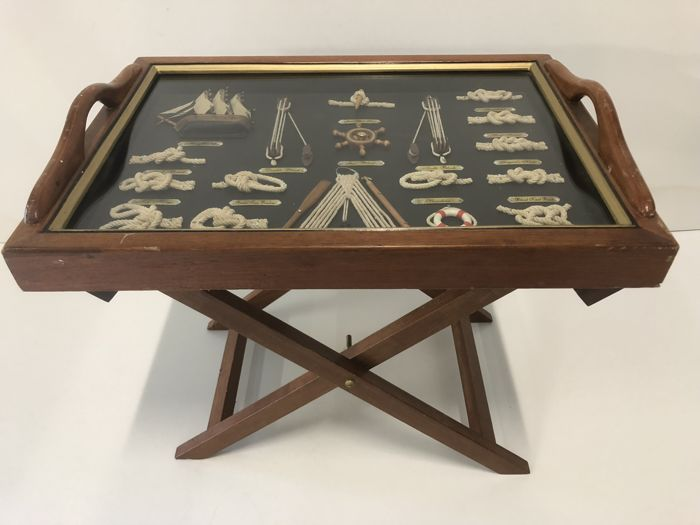 Nautical serving tray and side table