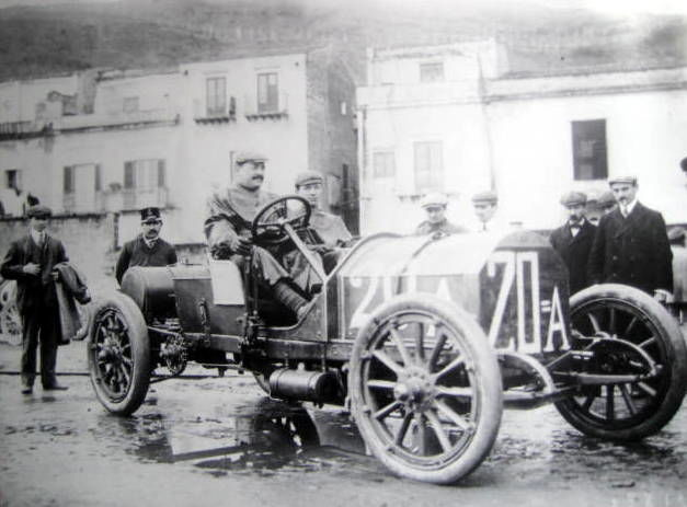 Objeto decorativo - Great Photo : Vincenso Lancia/Fiat - Targa Florio - 1907 (1 objetos)