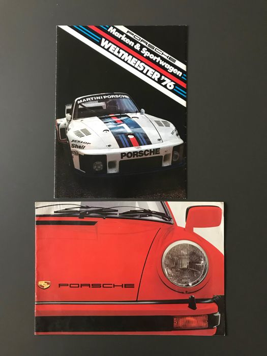 Brochures / Catalogues - Porsche 911 3.0 turbo 924 weltmeister brochure - 1976-1976 (2 items)