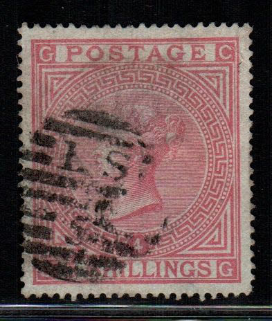 Great Britain 1882 - 5 Sh. plate 4 - rosa usato - Stanley Gibbons 130
