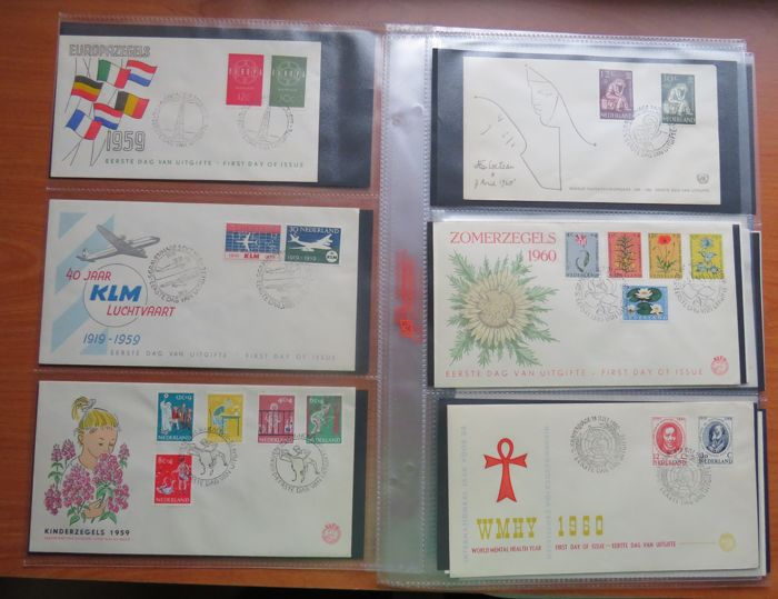 Netherlands 1959/1963 - FDC collection - NVPH E39/E61