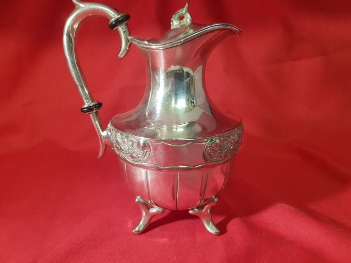 Antique decorated teapot, silver plated by J. Turton & Co of Sheffield