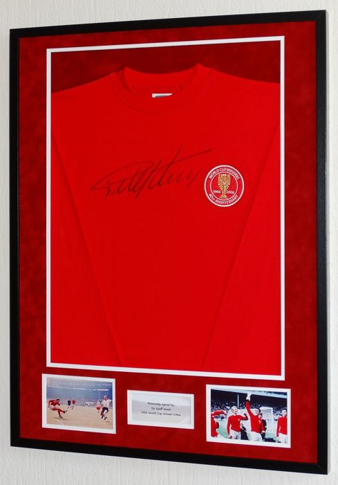 Geoff Hurst 40th anniversary original signed shirt - Premium framed + Certificate of Authenticity