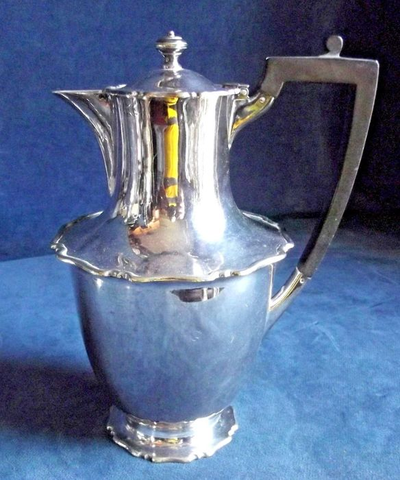 Old silver plated bulb teapot by Atkins Brothers ca. 1900
