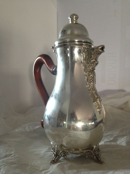 Silver Teapot - heavy, with a working lid - made in Italy, purchased in 1996