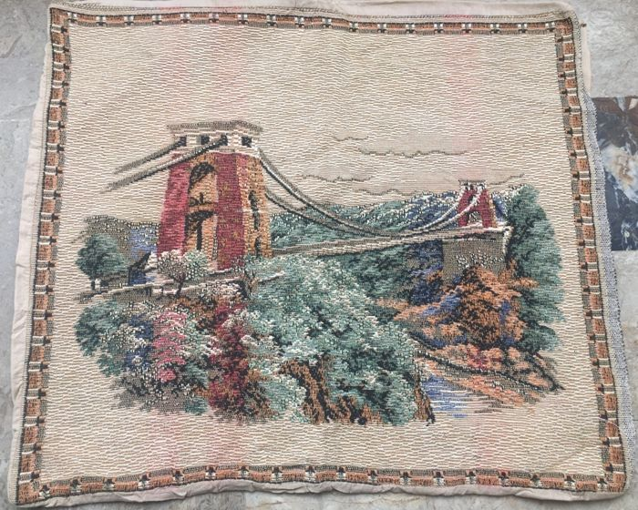 Vintage Gobelins Tapestry with Silk - 50 cm x 43 cm