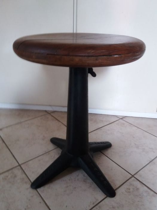 Cast iron stool by Singer, 1930s