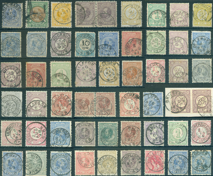 Pays-Bas - Petits timbres ronds