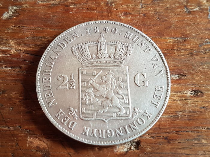 The Netherlands - 2 1/2 Guilder 1840 Willem I - silver