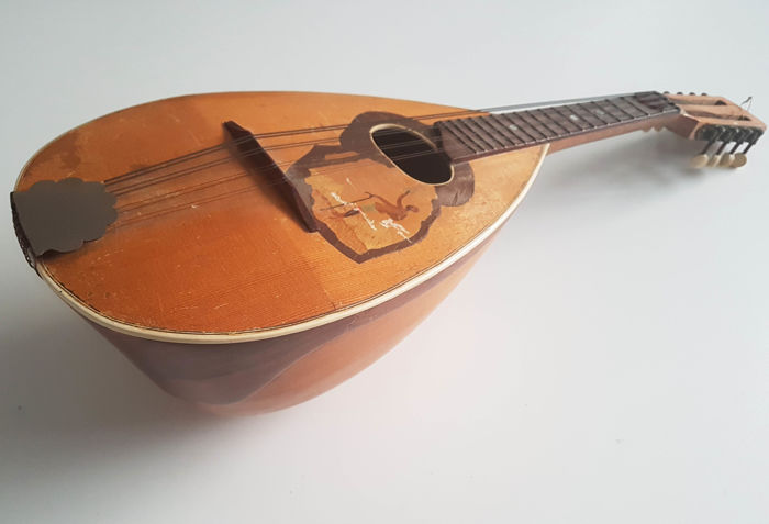 Vintage  Marcelli Mandolin with african theme , Builder unknown