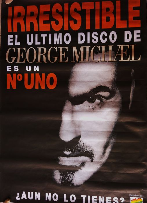 Original poster George Michael - Advertising promotion of the latest irresistible album - Rare - 1996
