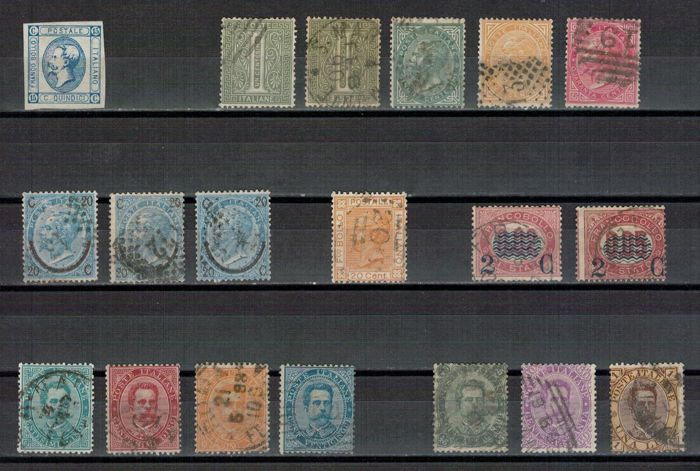 Italy Kingdom 1863/1930 - Selection of stamps of the period