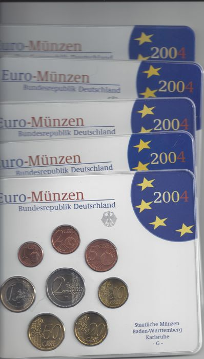 Alemania - Euro Jaarsets 2004- a d j f g