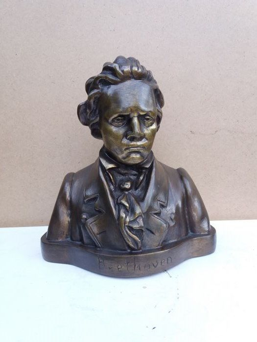 Bronze bust of Beethoven - France - first half 20th century