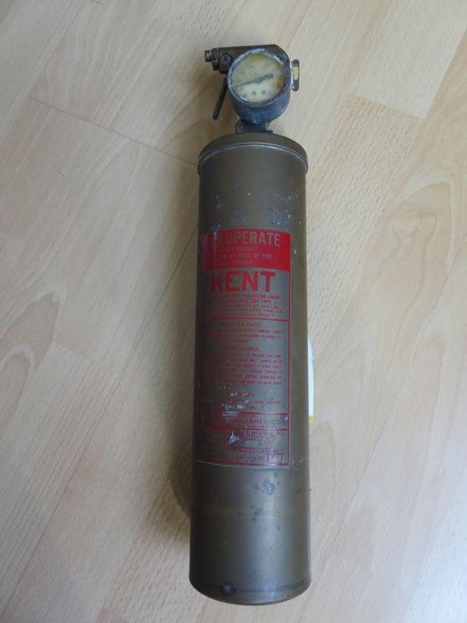Copper fire extinguisher from the USA 1956