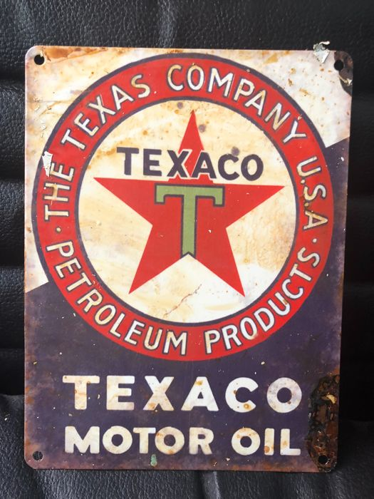 A very curious TEXACO Motor Oil advertising - about 1980