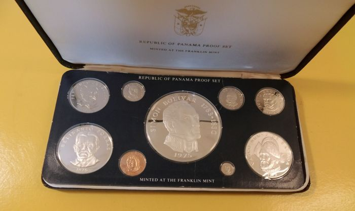 Panama - coin set 1975 - approx. 195 g 925 silver