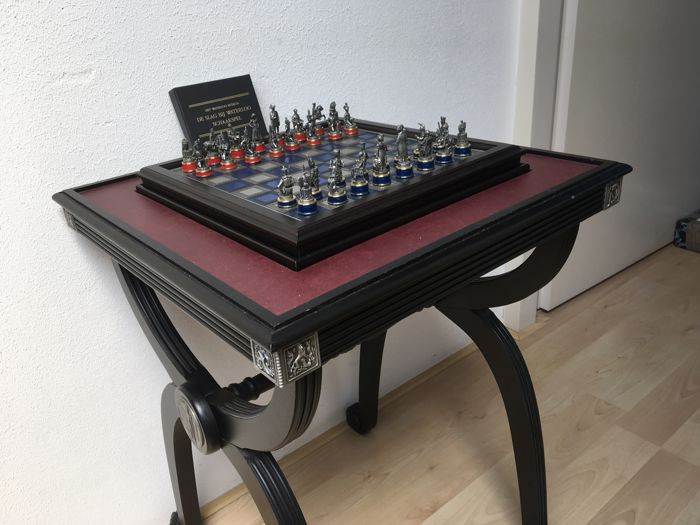Luxury chess table Napoleon Waterloo - in very good condition