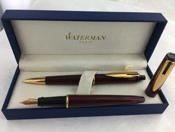 Waterman Reflex set fountain pen + ballpoint pen burgundy red