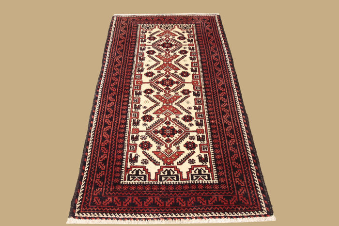 Hand-knotted Persian carpet, Belutsch, 185 x 95 cm