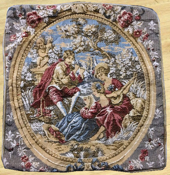 Vintage French Tapestry - Second Half of 20th Century - 45 cm x 43 cm