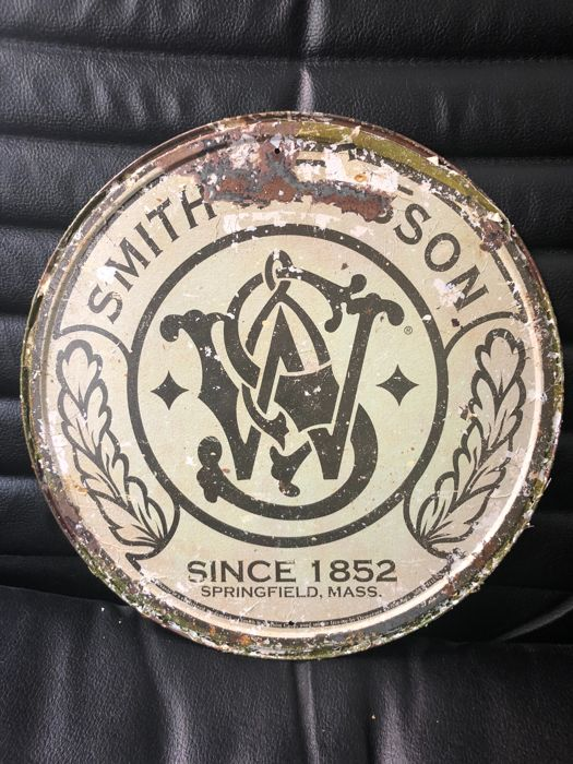 A very rare circular SMITH & WESSON Springfield advertising - about 1980