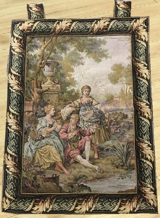 Vintage Tapestry - Second Half of 20th Century - 69 cm x 52 cm