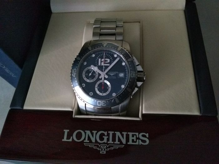 Longines - HYDROCONQUEST AUTOMATIC CHRONOGRAPH 300M - L3.644.4 - Heren - 2000-2010