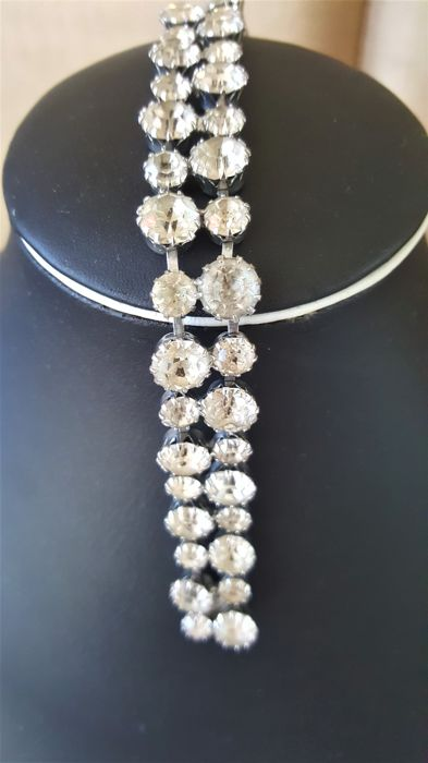 Vintage signed WEISS crystal Bracelet from 1940's