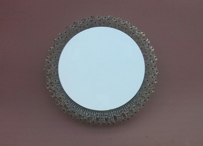 Emil Stejnar  for Rupert Nikoll - Round Illuminated Mirror